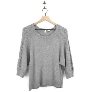Anthropologie Moth Icehouse Pullover Sweater Gray